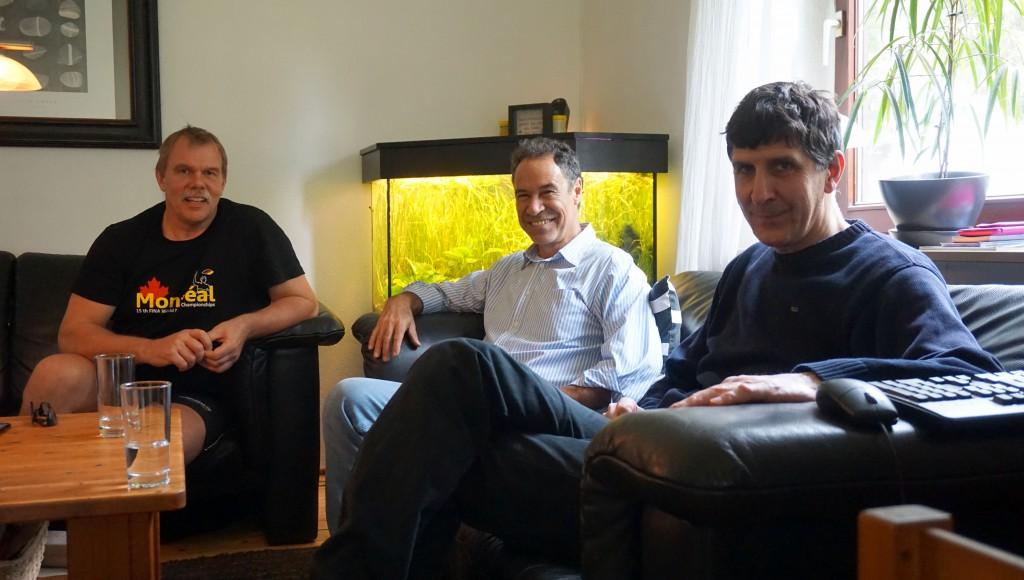 Günter Baudewig , Armando Fernández, Santiago Chalmovsky.