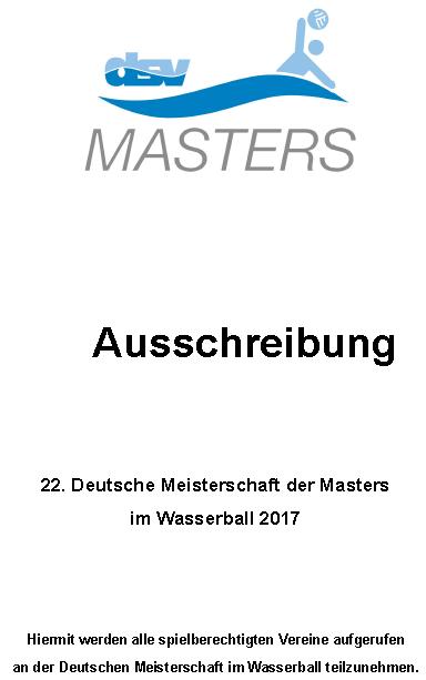 AUSSCHREIBUNG DMMW 2017
