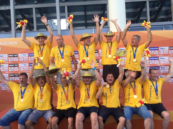 Deutsche Wasserball Masters holen Weltmeistertitel AK55+