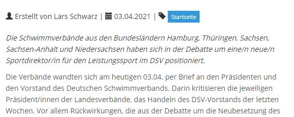 Weitere Verbände kritisieren DSV-Vorstand